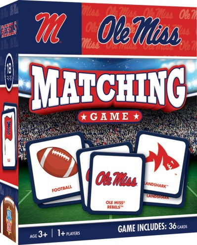 Mississippi Rebels Matching Game