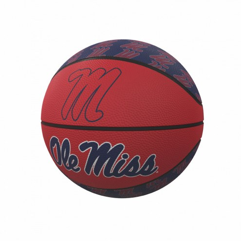 Mississippi Rebels Mini Rubber Basketball