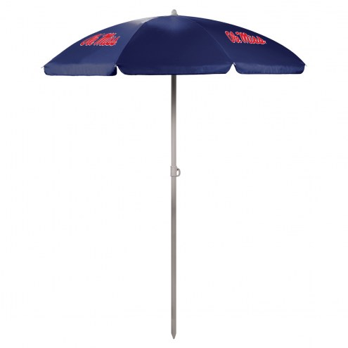 Mississippi Rebels Navy Beach Umbrella