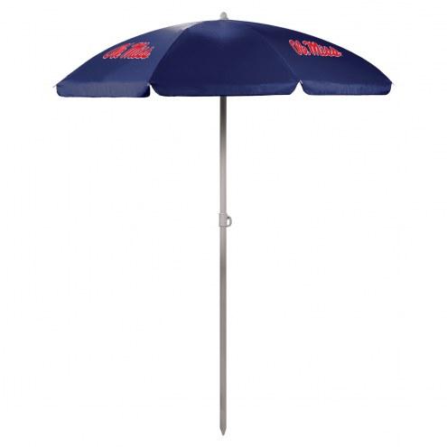 Mississippi Rebels Navy Beach Umbrella