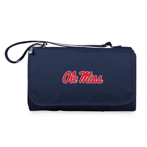 Mississippi Rebels Navy Blanket Tote