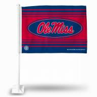 Mississippi Rebels Navy Car Flag