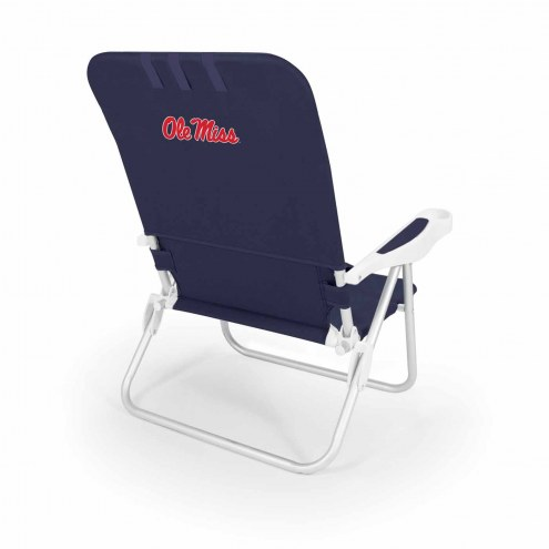 Mississippi Rebels Navy Monaco Beach Chair