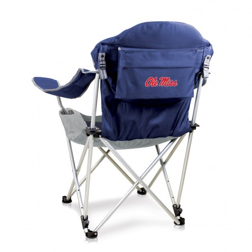 Mississippi Rebels Navy Reclining Camp Chair