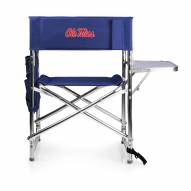Mississippi Rebels Navy Sports Folding Chair