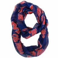 Mississippi Rebels Sheer Infinity Scarf