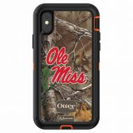 Mississippi Rebels OtterBox iPhone X Defender Realtree Camo Case