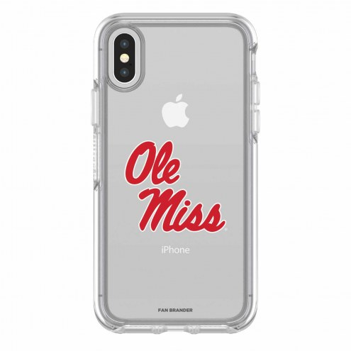 Mississippi Rebels OtterBox iPhone X Symmetry Clear Case