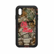 Mississippi Rebels OtterBox iPhone XS Max Defender Realtree Camo Case