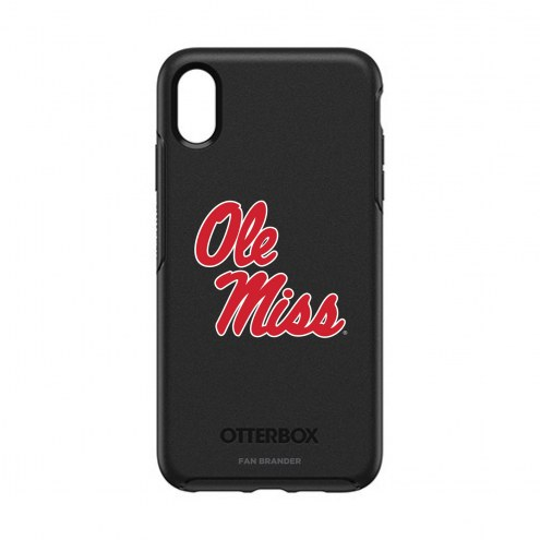 Mississippi Rebels OtterBox iPhone XS Max Symmetry Black Case