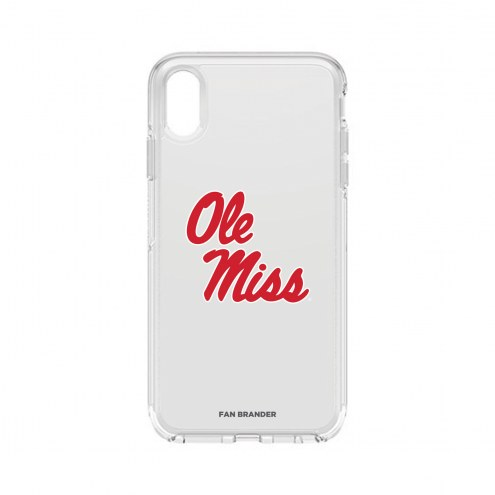 Mississippi Rebels OtterBox iPhone XS Max Symmetry Clear Case