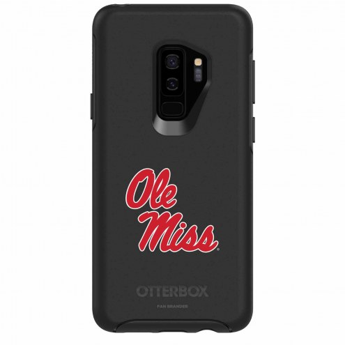 Mississippi Rebels OtterBox Samsung Galaxy S9+ Symmetry Black Case