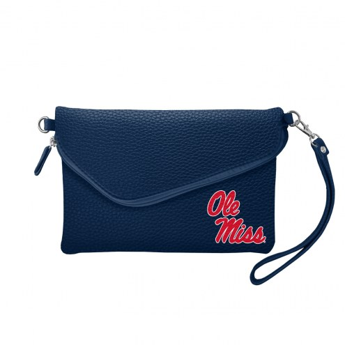 Mississippi Rebels Pebble Fold Over Purse