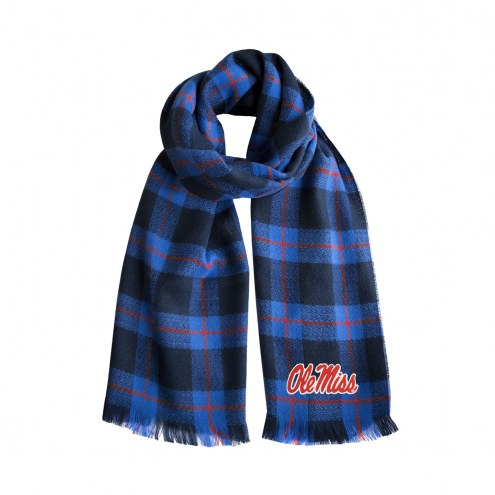Mississippi Rebels Plaid Blanket Scarf