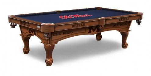 Mississippi Rebels Pool Table