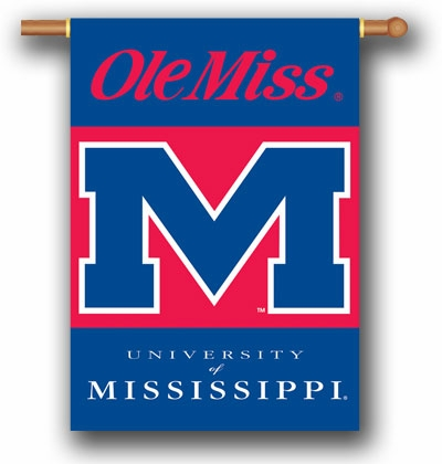 "Mississippi Rebels Premium 28"" x 40"" Two-Sided Banner"