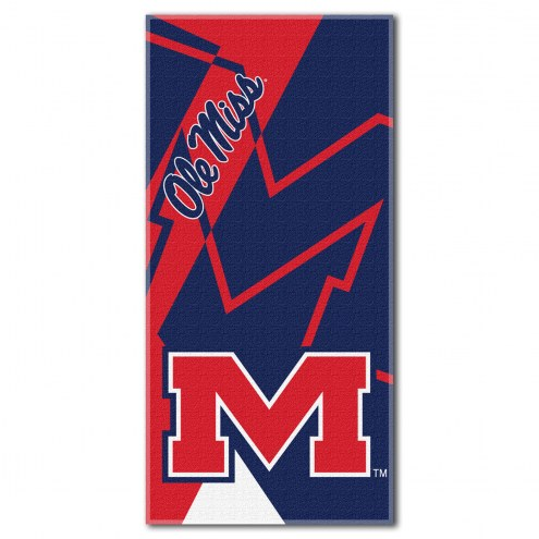 Mississippi Rebels Puzzle Beach Towel