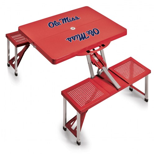Mississippi Rebels Red Folding Picnic Table