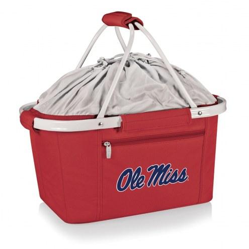 Mississippi Rebels Red Metro Picnic Basket
