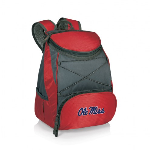 Mississippi Rebels Red PTX Backpack Cooler