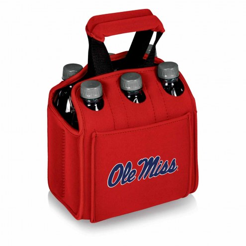Mississippi Rebels Red Six Pack Cooler Tote