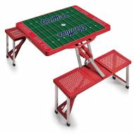 Mississippi Rebels Red Sports Folding Picnic Table