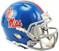 Mississippi Rebels Riddell Speed Mini Collectible Powder Blue Football Helmet