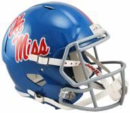 Mississippi Rebels Riddell Speed Collectible Powder Blue Football Helmet