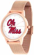 Mississippi Rebels Rose Mesh Statement Watch