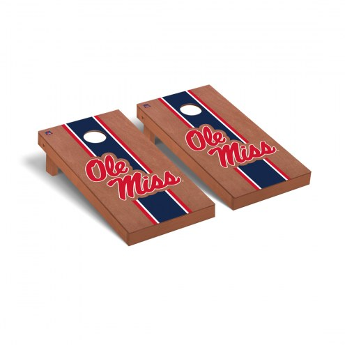 Mississippi Rebels Rosewood Stained Cornhole Game Set