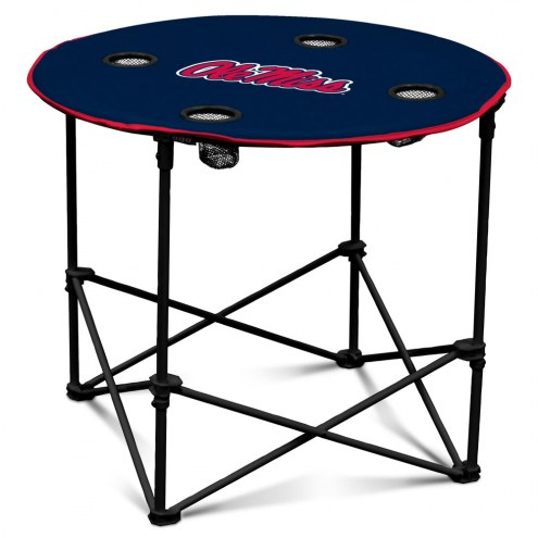 Mississippi Rebels Round Folding Table