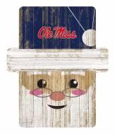 Mississippi Rebels Santa Ornament