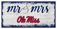 Mississippi Rebels Script Mr. & Mrs. Sign