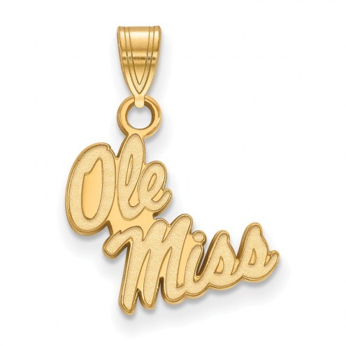 Mississippi Rebels Sterling Silver Gold Plated Small Pendant