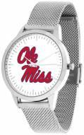 Mississippi Rebels Silver Mesh Statement Watch