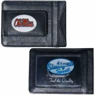 Mississippi Rebels Leather Cash & Cardholder