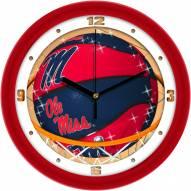 Mississippi Rebels Slam Dunk Wall Clock