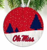 Mississippi Rebels Snow Scene Ornament