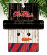 Mississippi Rebels Snowman Ornament