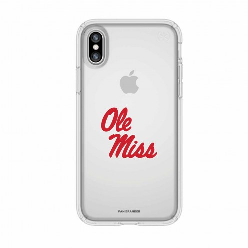 Mississippi Rebels Speck iPhone X Presidio Clear Case