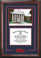 Mississippi Rebels Spirit Diploma Frame with Campus Image