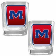 Mississippi Rebels Square Glass Shot Glass Set