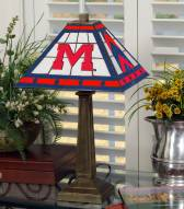 Mississippi Rebels Stained Glass Mission Table Lamp