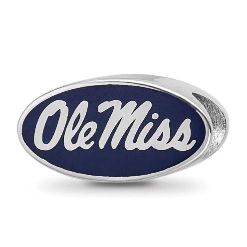 Mississippi Rebels Sterling Silver Enameled Bead