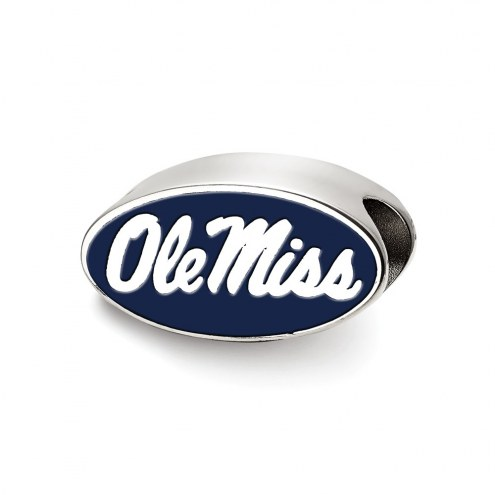 Mississippi Rebels Sterling Silver Enameled Bead