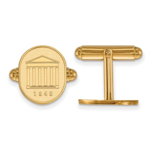 Mississippi Rebels Sterling Silver Gold Plated Cuff Links