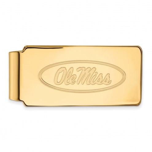 Mississippi Rebels Sterling Silver Gold Plated Money Clip