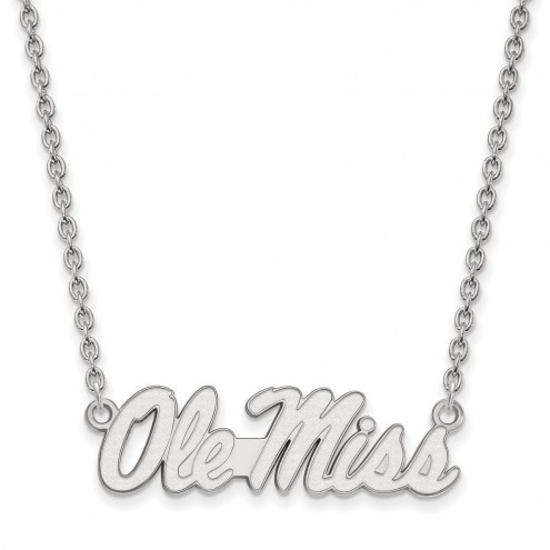 Mississippi Rebels Sterling Silver Large Pendant Necklace