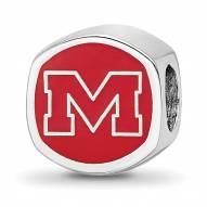 Mississippi Rebels Sterling Silver Logo Bead