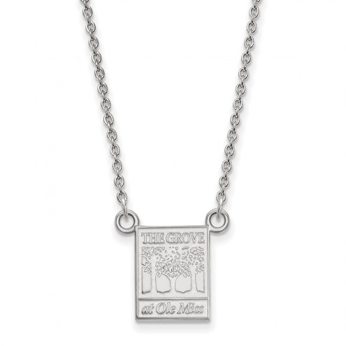 Mississippi Rebels Sterling Silver Small Pendant Necklace